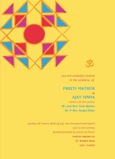 wedding invitations - FestiveArt_Rangoli by Gunjan Srivastava