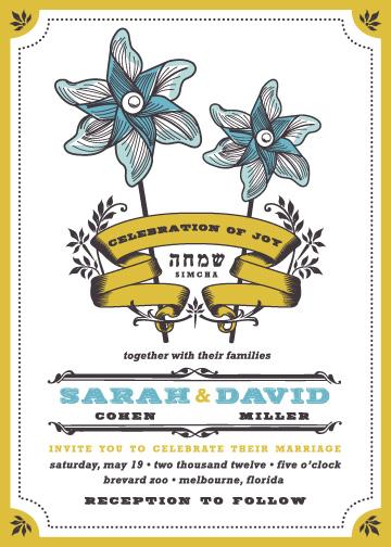 wedding invitations - Pinwheel Stars by Casey Fritz