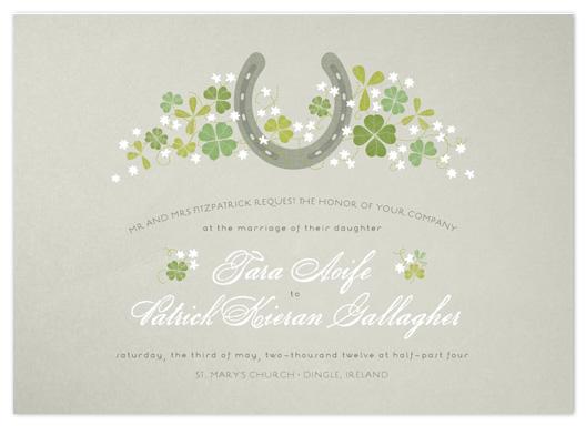 wedding invitations - Lucky Horseshoe by 2birdstone