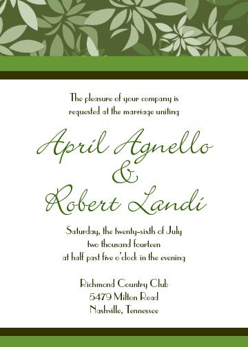 wedding invitations - Leaves by Sharon Hoffman