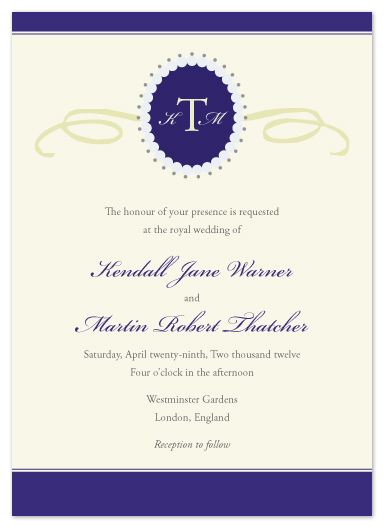 wedding invitations - Royal Wedding by Heather Myers