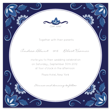 wedding invitations - Delft Blue Love by Giselle Zimmerman