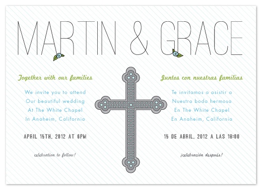 wedding invitations  bilingual celebration at minted, Wedding invitations