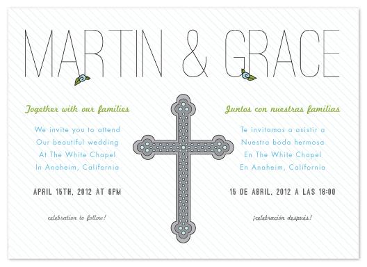 wedding invitations Bilingual Celebration at Mintedcom