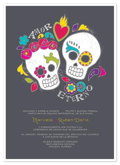 Wedding Invitations   Dia De Los Muertos By Inky Livie