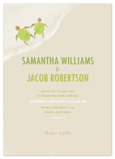 wedding invitations - Two love turtles by Liza Williams