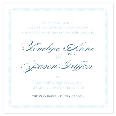 wedding invitations - Greek Key to Happiness by Shari Margolin