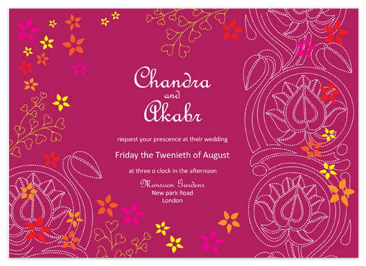 wedding invitations - Indian lotus by Valley design