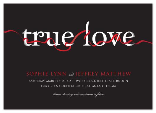 wedding invitations - True Love by Jacqueline Dziadosz