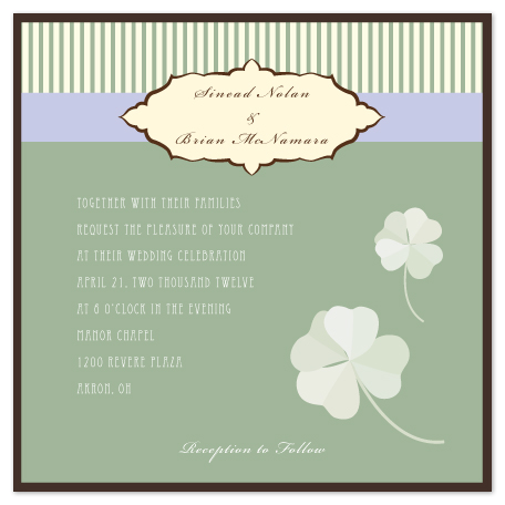 wedding invitations - Lucky for Life by Elena Wilkerson