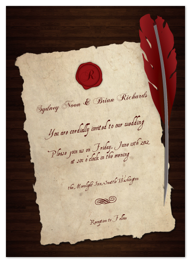 wedding invitations - Old Parchment  by Elaine Stephenson