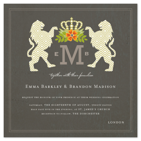 wedding invitations - Royal Monogram by Griffinbell Paper Co.
