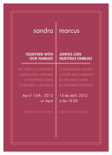 Wedding Invitations Modern Spanish Cross At Minted Com