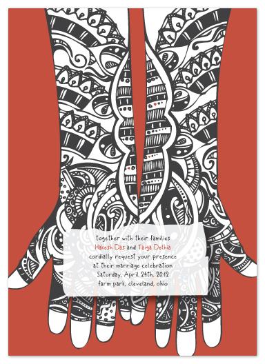 wedding invitations - Delhi Hands by ArtSplott