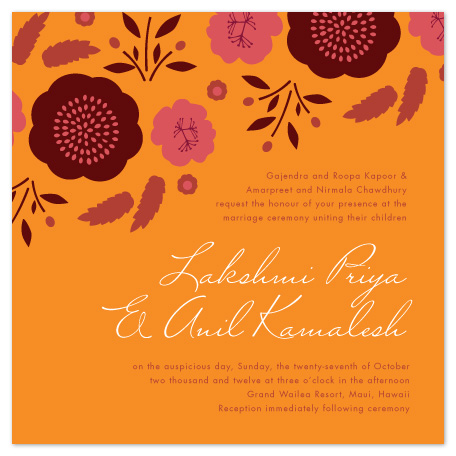 wedding invitations - Jaipur Garden by Olivia Raufman