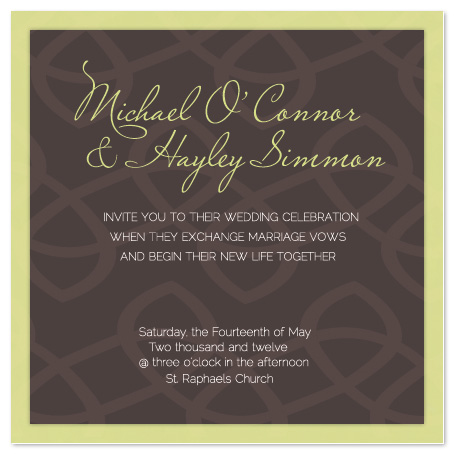 wedding invitations - chain by Beth Mitesser