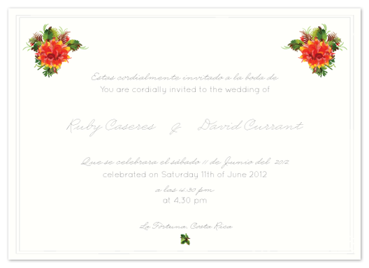 wedding invitations - La Fortuna Love by Giselle Zimmerman