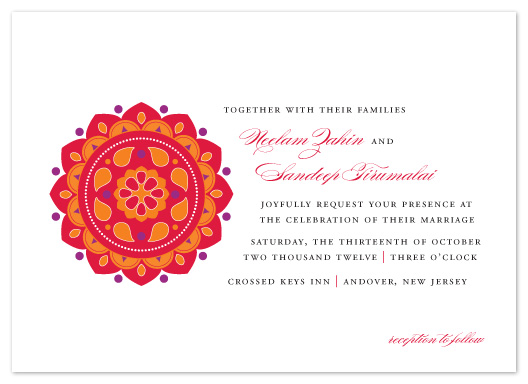 wedding invitations - Bright Rangoli by Sandra Picco Design