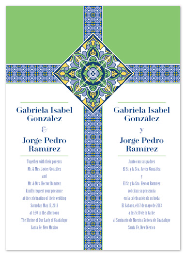 wedding invitations - Tiled Cross by Laura Bolter Design