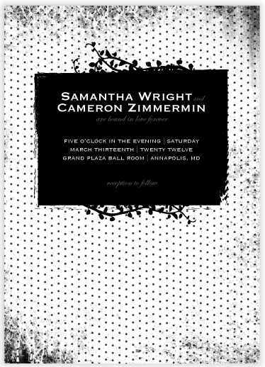wedding invitations - Dark Romance by Heather.