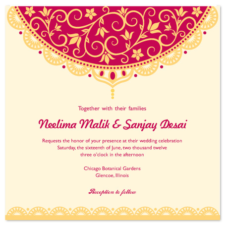 wedding invitations - Indian Veil by Tracy Dunn
