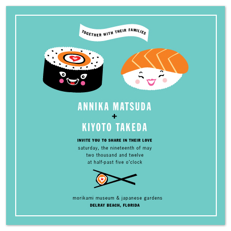 wedding invitations - Sushi Love by Casey Fritz