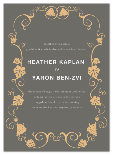 wedding invitations - on the vine by Heather Ben-Zvi