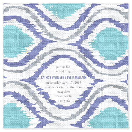 wedding invitations - Ikat Inspiration by toast events + design