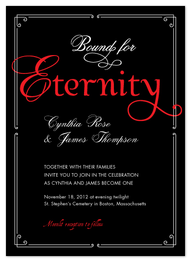 wedding invitations - Bound for Eternity by Elaine Stephenson