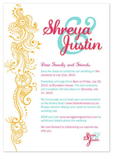 wedding invitations - Henna Design by Angela Chih