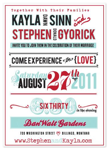 wedding invitations - signageinlove by Kayla Gyorick