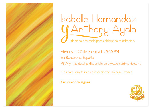 wedding invitations - Spanish Sunset by Angela Chih