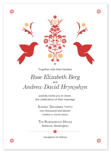 wedding invitations - Modern Ukrainian by Jessica Eith