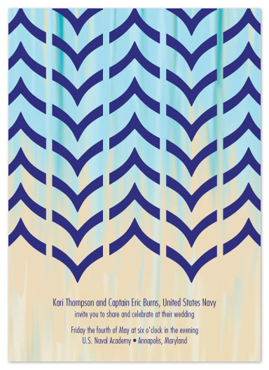 wedding invitations - Lovely Chevrons by Katie