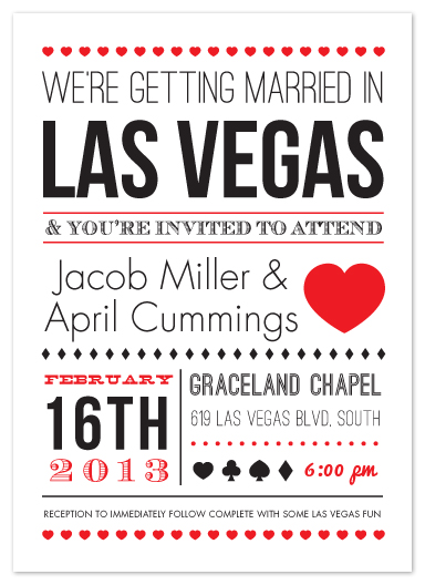 wedding invitations - Vegas Type by Elaine Stephenson