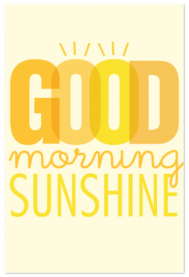 art prints - Good Morning Sunshine by Jen Serafini