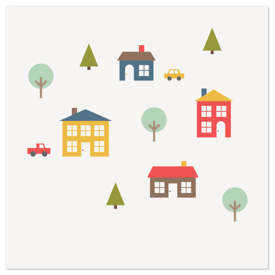 art prints - Small Town by Amber Barkley