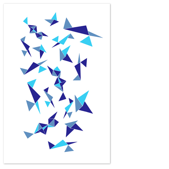 art prints - Shapes in Blue Hue by Snapdragon Design Co.