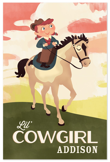 art prints - Lil' Cowgirl by Pistols