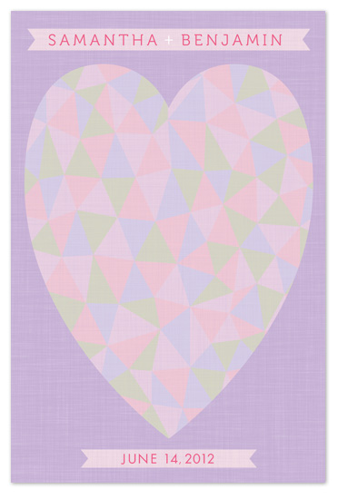 art prints - Triangle Heart Wedding Guest Book Alternative by Laura Bolter Design