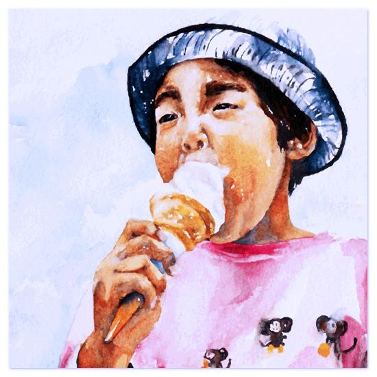 art prints - Ice Cream Boy by Tate Design