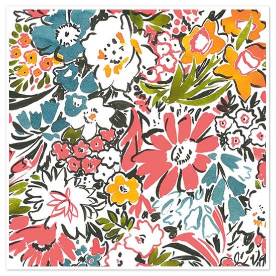 art prints - Exploded Retro Floral by Melissa Kelman