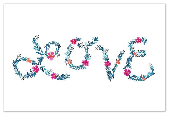 art prints - Floral Love by Melissa Kelman