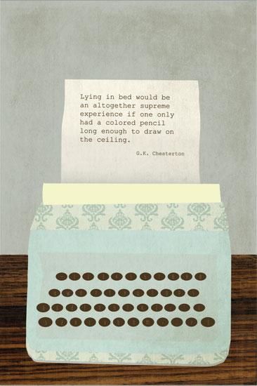 art prints - Typewriter by BusyNothings