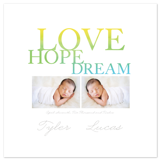 art prints - Love Hope Dream by Larkspur Paperie