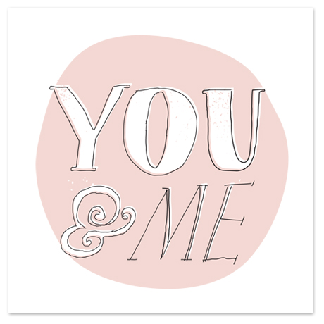 art prints - You and Me by Paper Rose