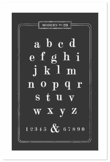 art prints - font fanatic by amanda cunningham