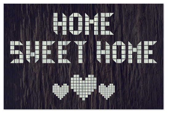art prints - home sweet home - dark version by Jessica Burkart