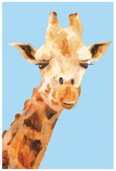 art prints - Georgie Giraffe by Tate Design