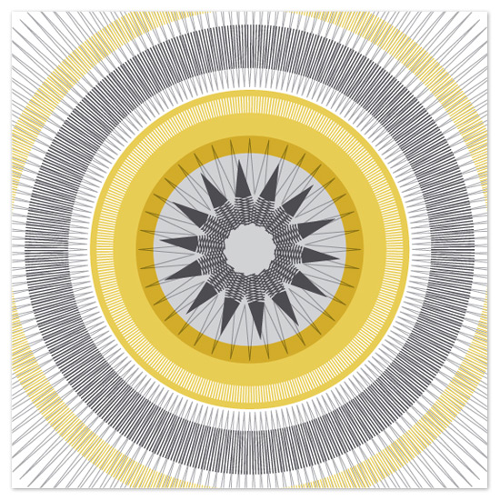 art prints - Metallic Starburst by Allison Gaffney